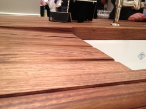 Walnut Wood Countertop with Drainboard