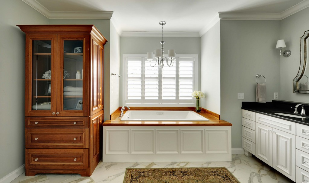 Wood Bathroom Countertops Teak Tub Surround