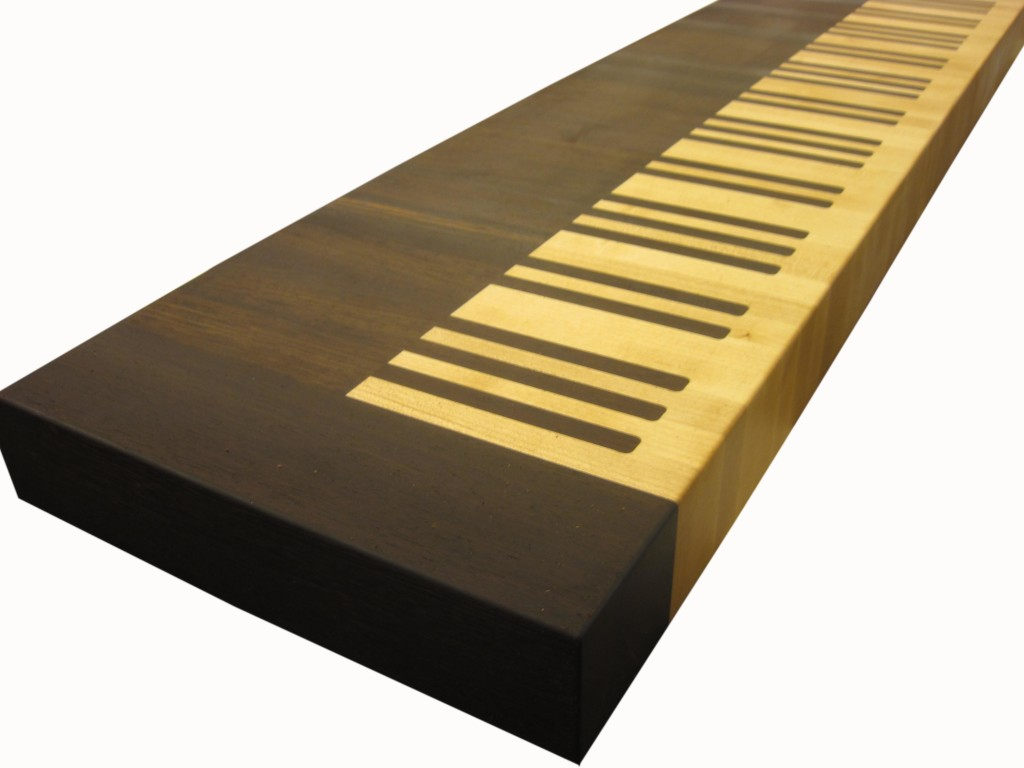 Butcher Block Countertop Piano Keyboard by Grothouse