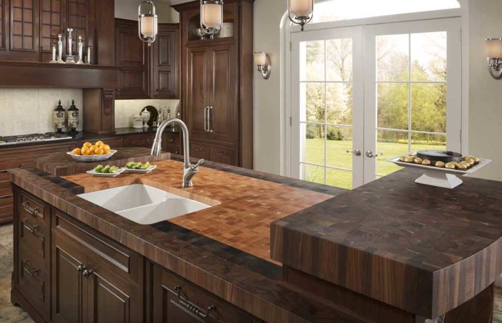 Walnut Butcher block Countertops by Grothouse