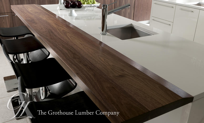 Walnut Dark Wood Countertops designed by John Troxell