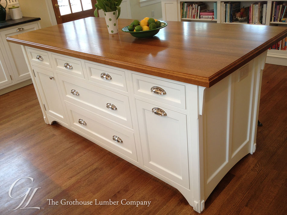 White Oak Wood Countertops design by Main Street Cabinet Co LLC