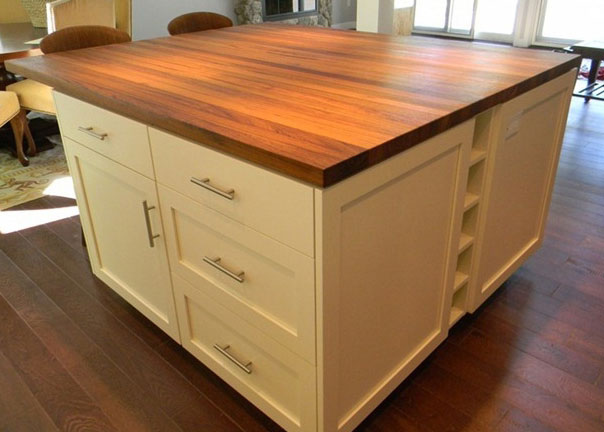 Teak Wood Countertop 1 1/2 inches thick by Julie Fergus American Home