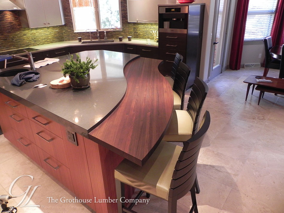 Peruvian Walnut Countertop designed by Exquisite Kitchen Design