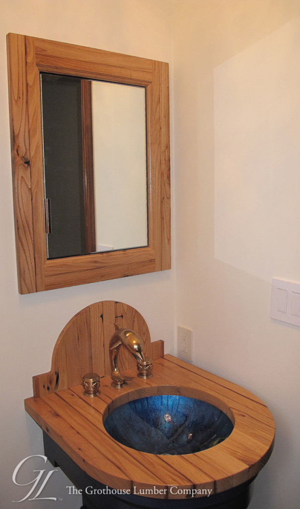 Reclaimed Chestnut Bathroom Vanity by The Kitchen Strand