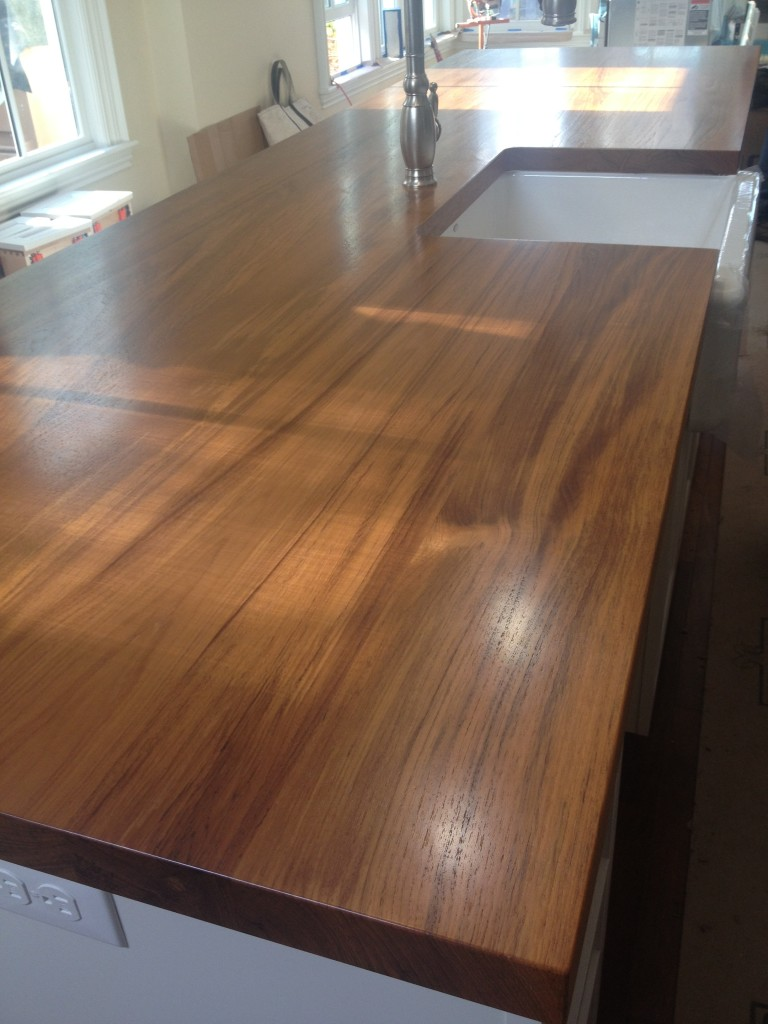Custom Wood Kitchen Island Countertop crafted by Grothouse