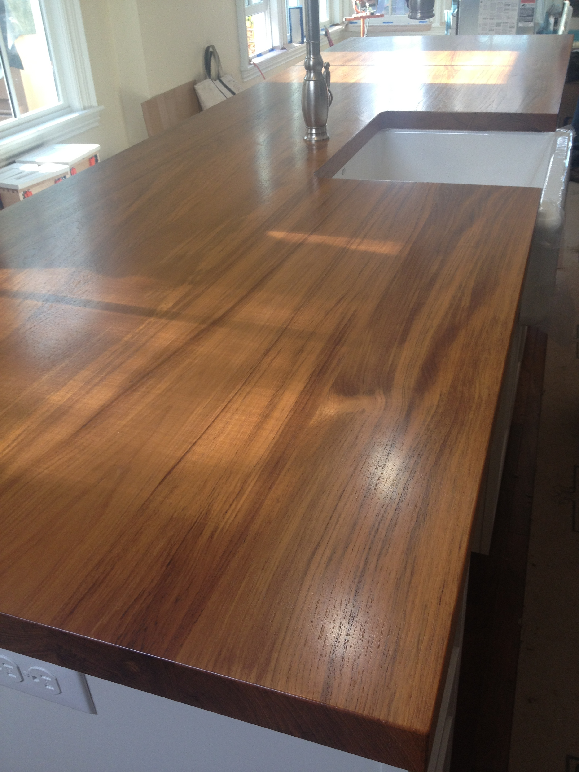 custom teak wood countertops - Wood Countertop, Butcherblock and Bar ...