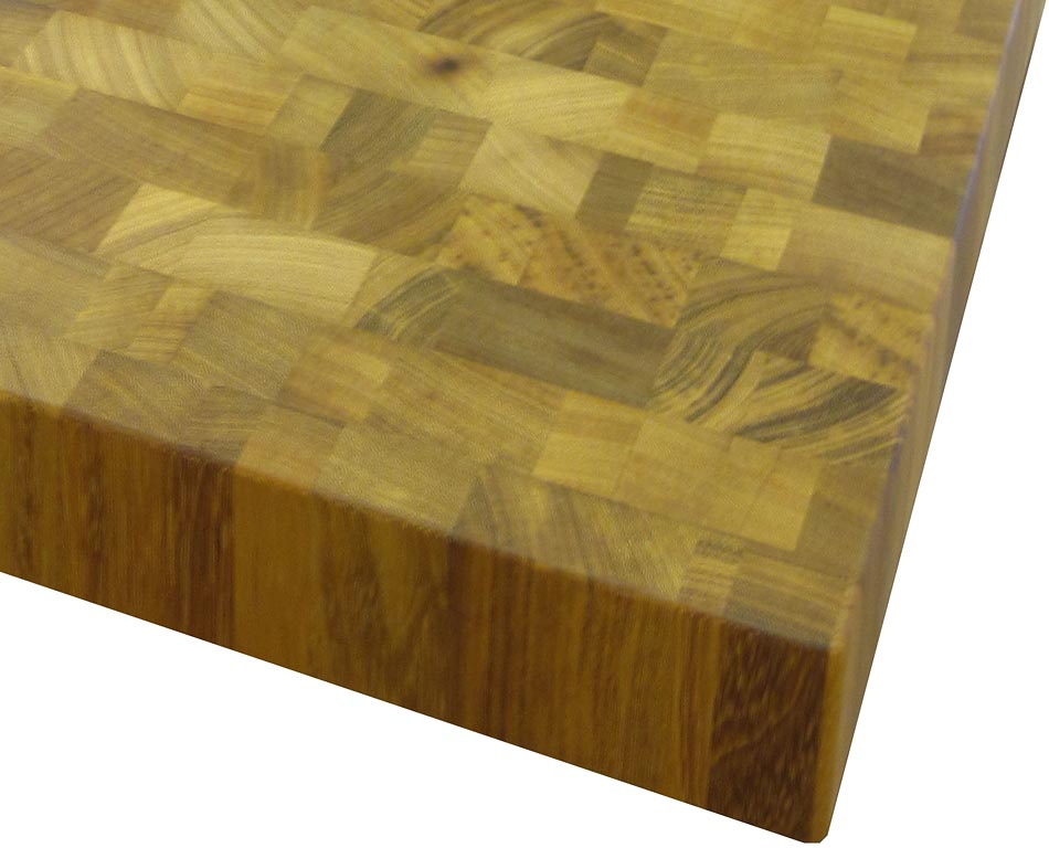 Image of an Iroko Butcher Block