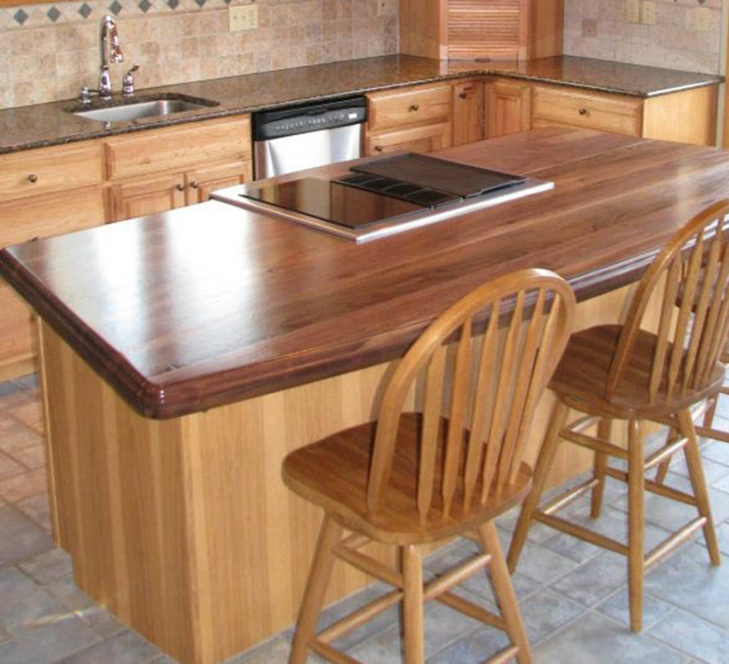 Distressed Wood Countertops for kitchen island