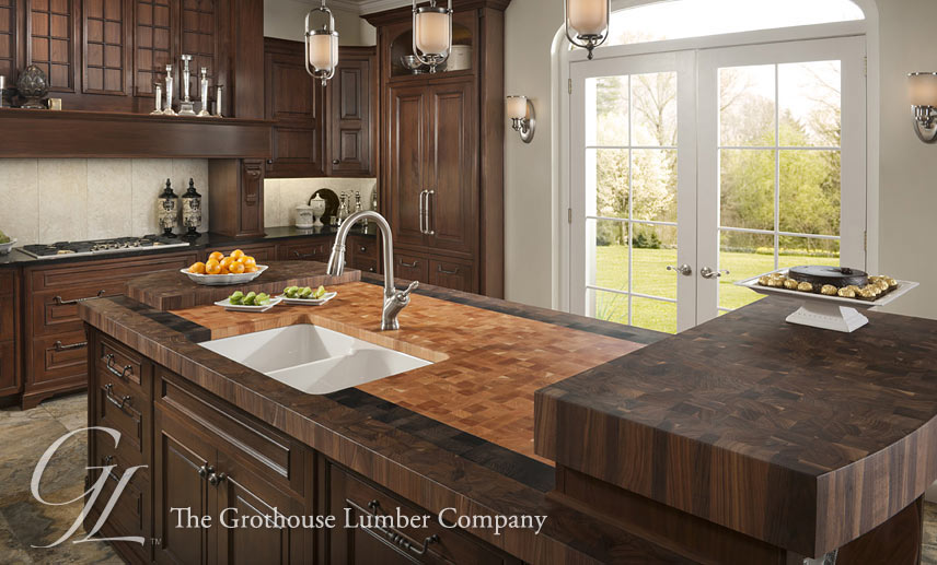 Butcher Block Kitchen Island Tops - Wood Countertops, Bar Tops Blog