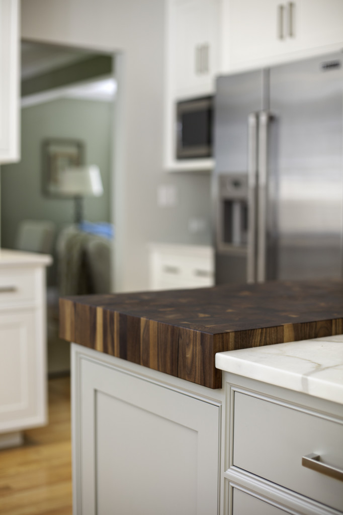 Custom Butcher Block designed by New England Design Works