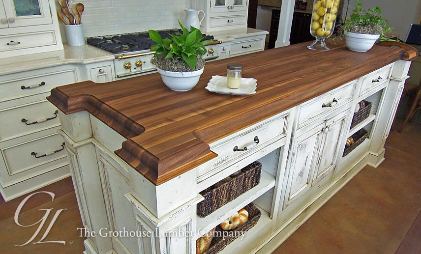 Walnut Wood Countertop with Expanded Corners