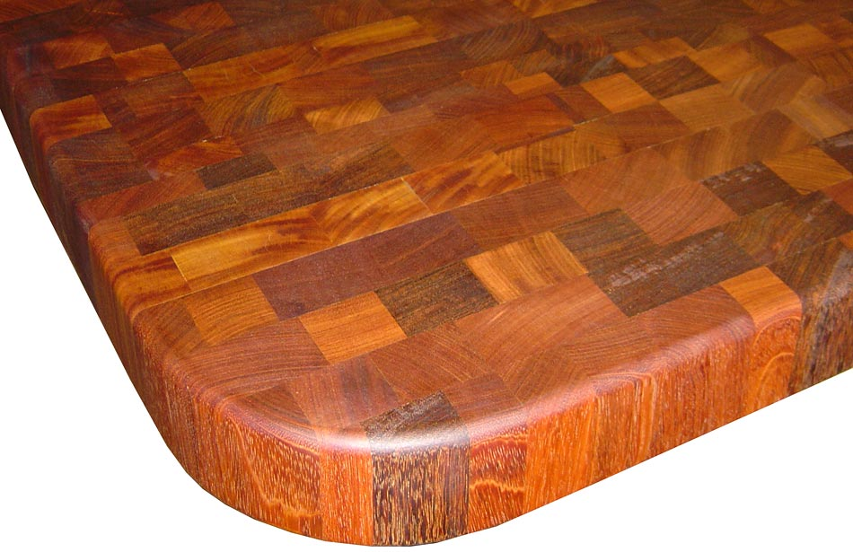 Brazilian Cherry Countertop in End Grain Construction