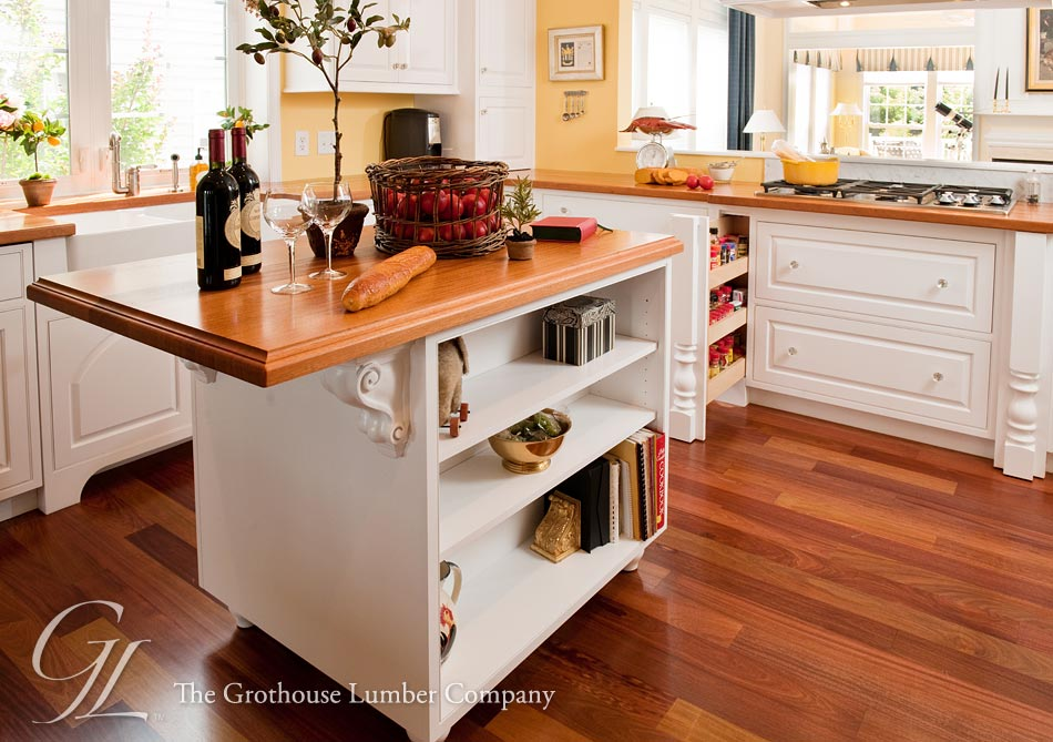 African mahogany wood kitchen countertops