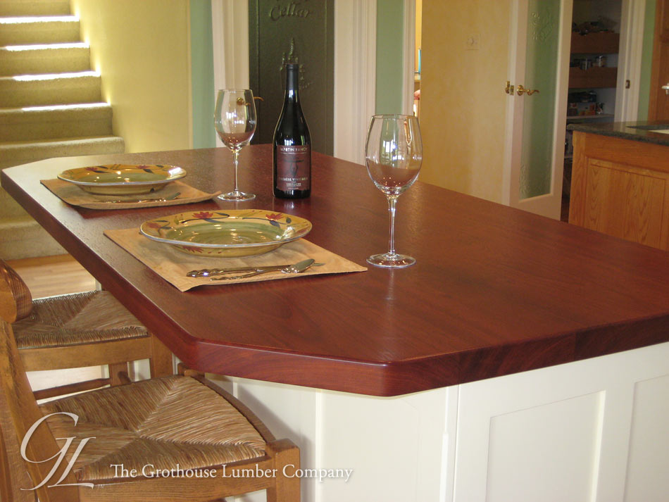 Brazilian Cherry Kitchen Island Countertop