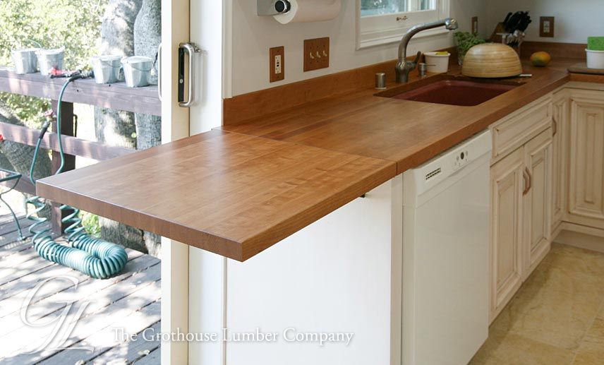 Cherry Kitchen Countertop with extension
