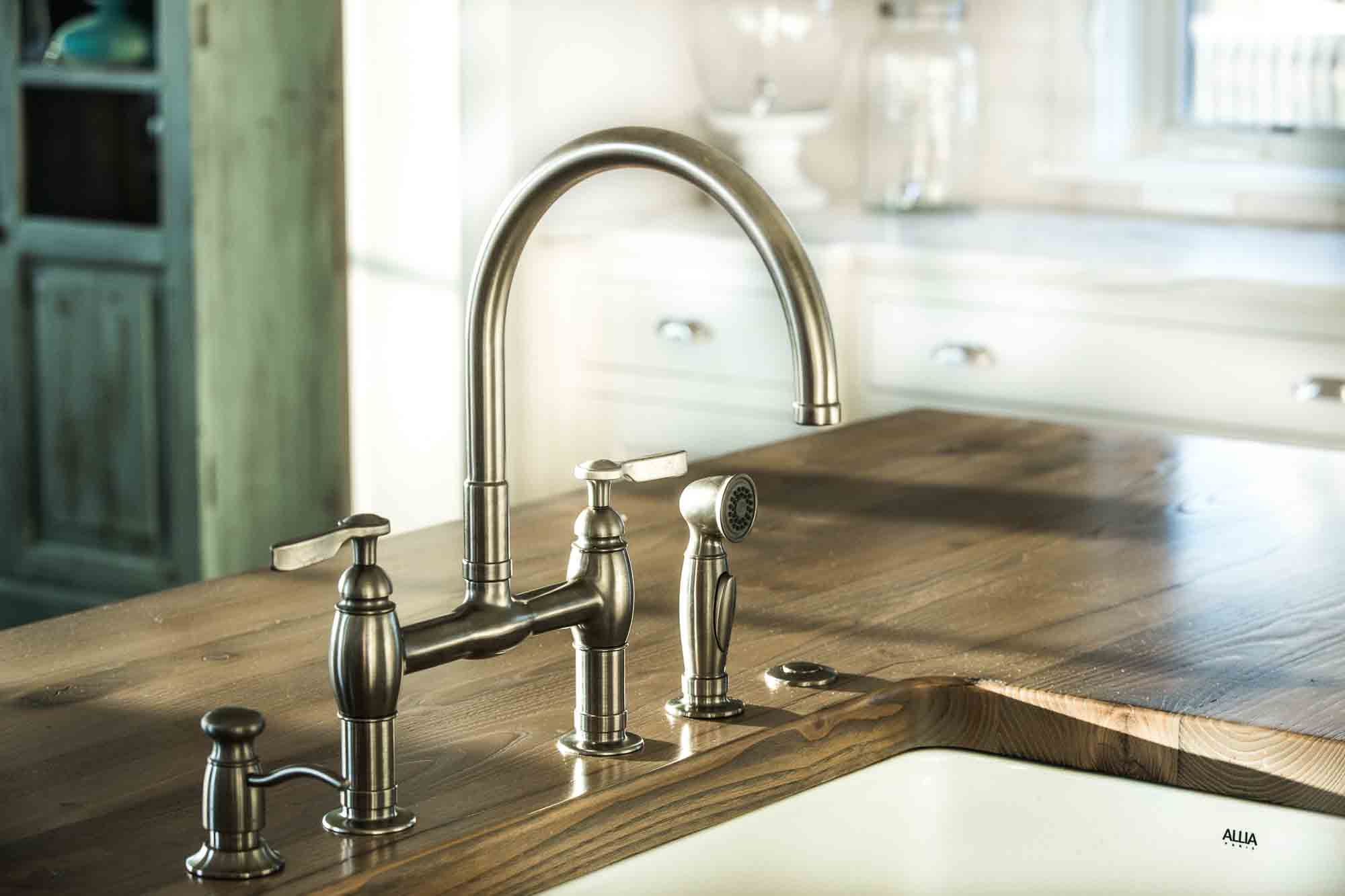 Reclaimed Countertop design by Blue Bell Kitchens