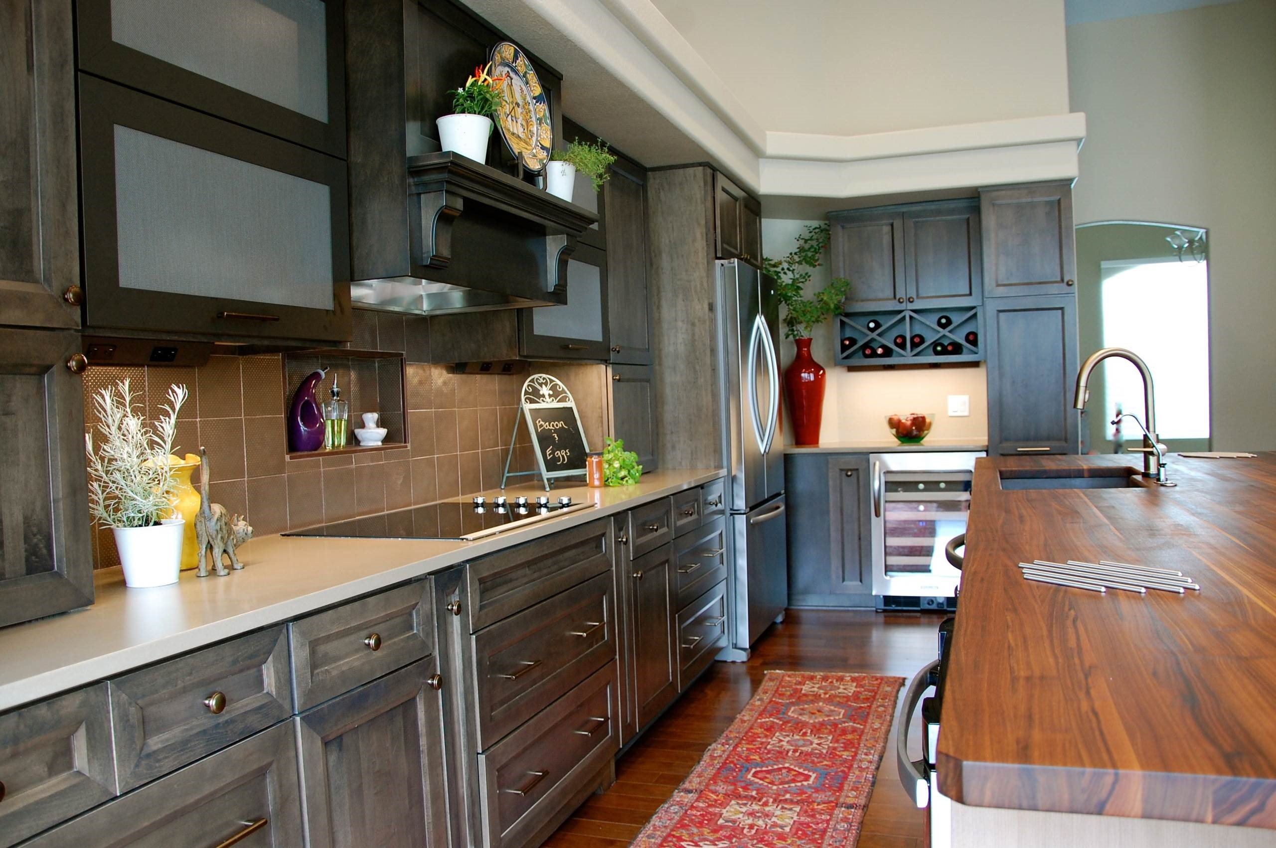 Walnut Kitchen Island Countertop by Deborah Dyste