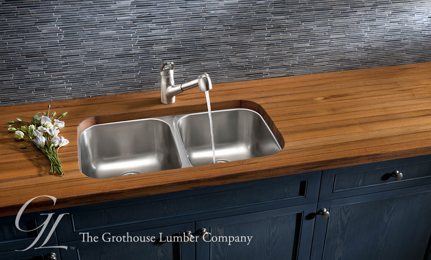 Grothouse Wood Countertops Sinks - Butcher Blocks Blog on butcher block countertop marble, butcher block countertop bathroom, butcher block countertop laundry,