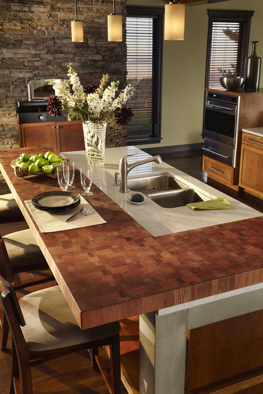 Brazilian Cherry Modern Butcher Block Countertops