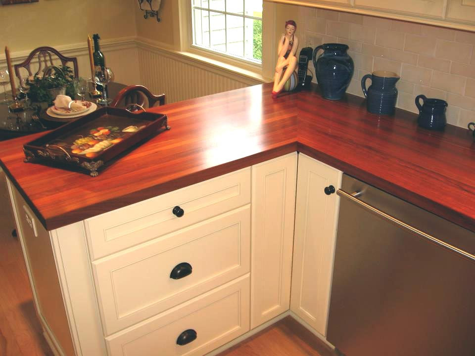 Santos mahogany countertops butcher blocks bar tops blog for Mahogany kitchen designs