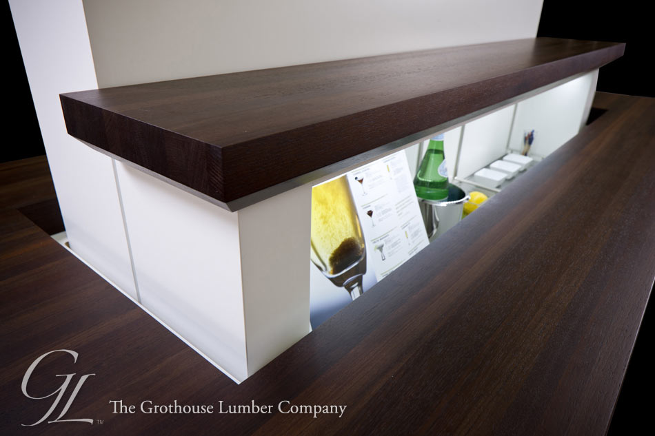 Peruvian Walnut Dark Wood Countertops by Grothouse
