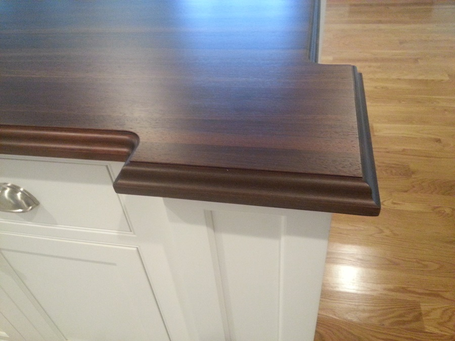 Peruvian Walnut Countertop with Standard Roman Ogee Edge