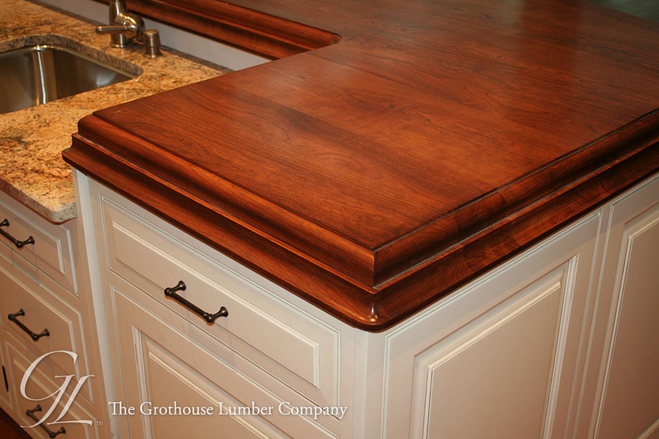 Stained Wood Countertops with Customer Provided Stain