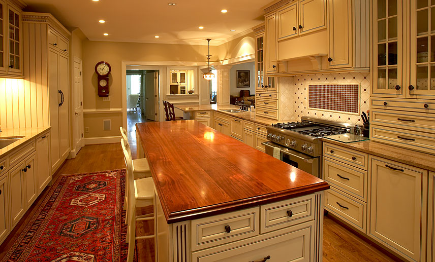 Cherry Wood Countertop with Standard Roman Ogee Edge