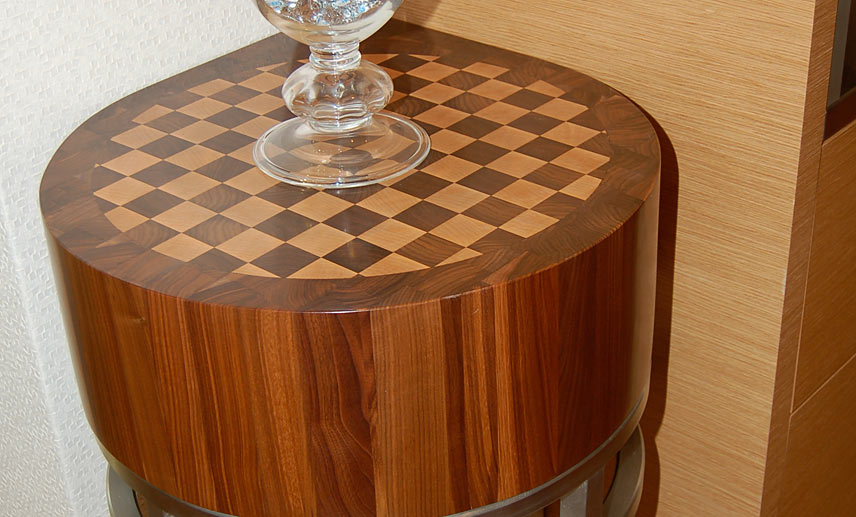 Checkerboard Butcher Block Table Design