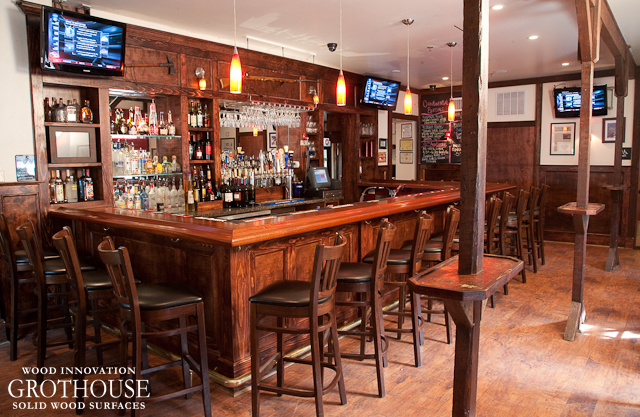 The New Continental Tavern Wood Bar Top Commercial Wood surfaces in  Pennsylvania