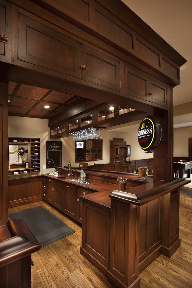 Basement Wood Bar Top Designs