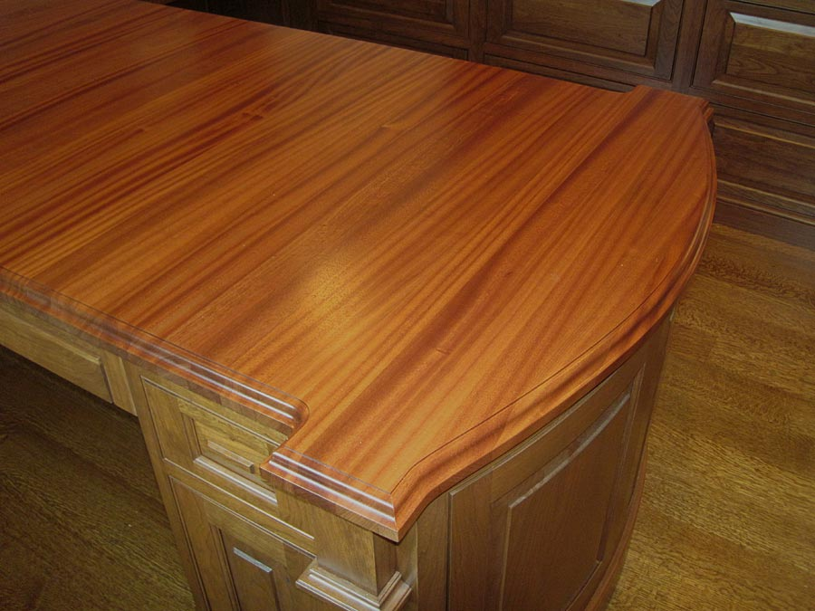 Wood Desk Tops for commercial office spaces