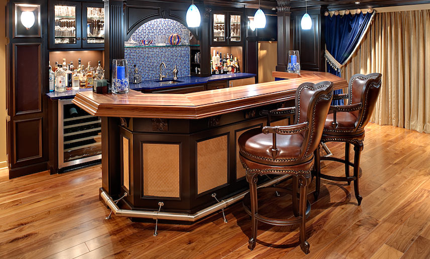 basement wood bar top designs - blog