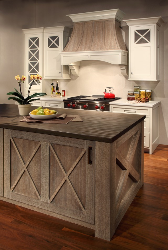 Grothouse wood countertops in Plato Woodwork display at KBIS 2015