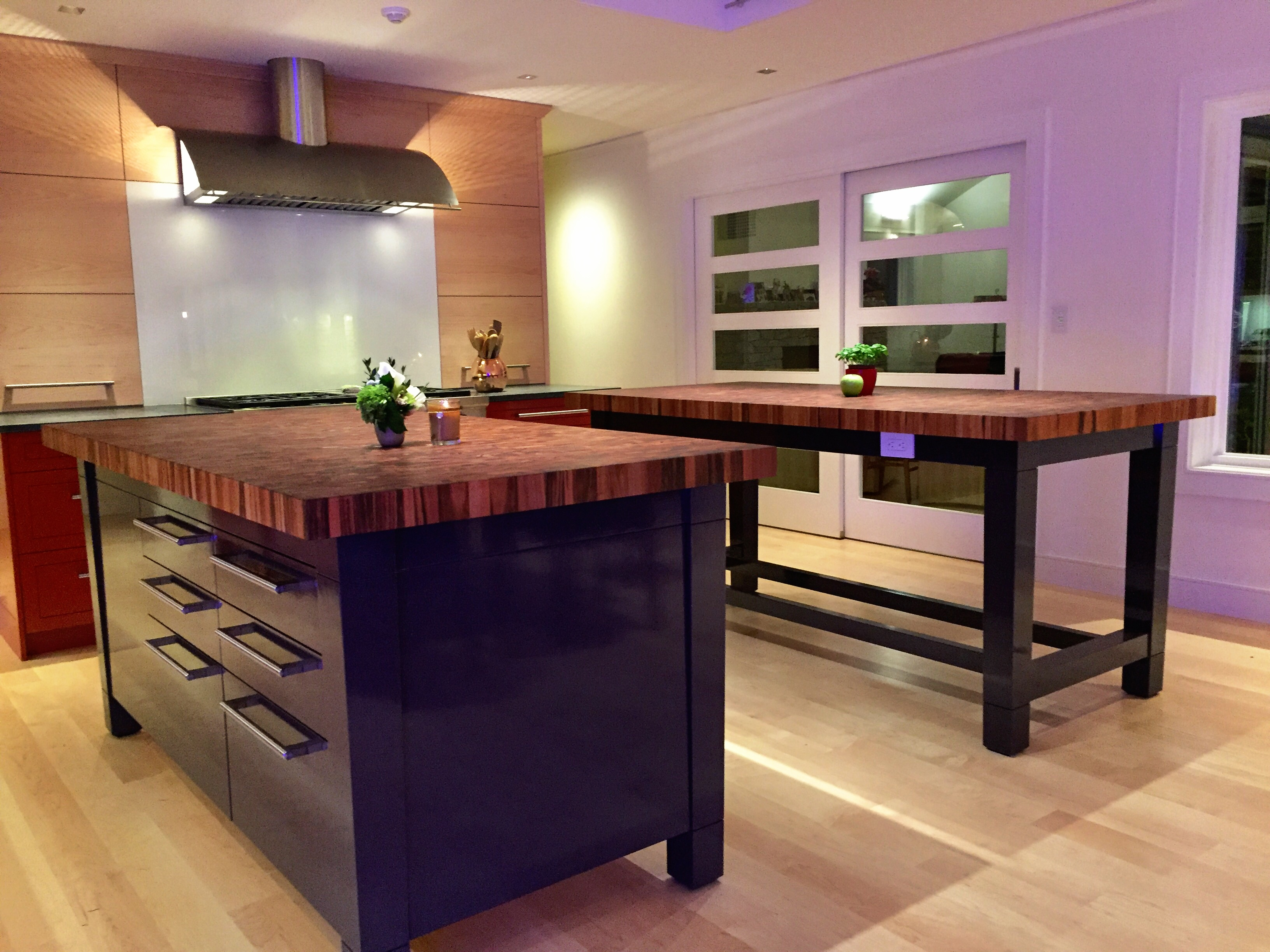 small kitchen island butcher block. Interesting Small Tigerwood Butcher Block Countertops And Small Kitchen Island