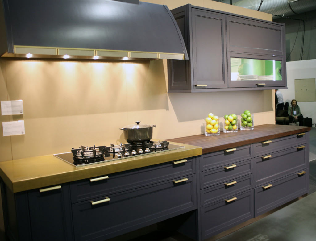 Magnum Metal Countertop and Peruvian Walnut Wood Countertop by Grothouse