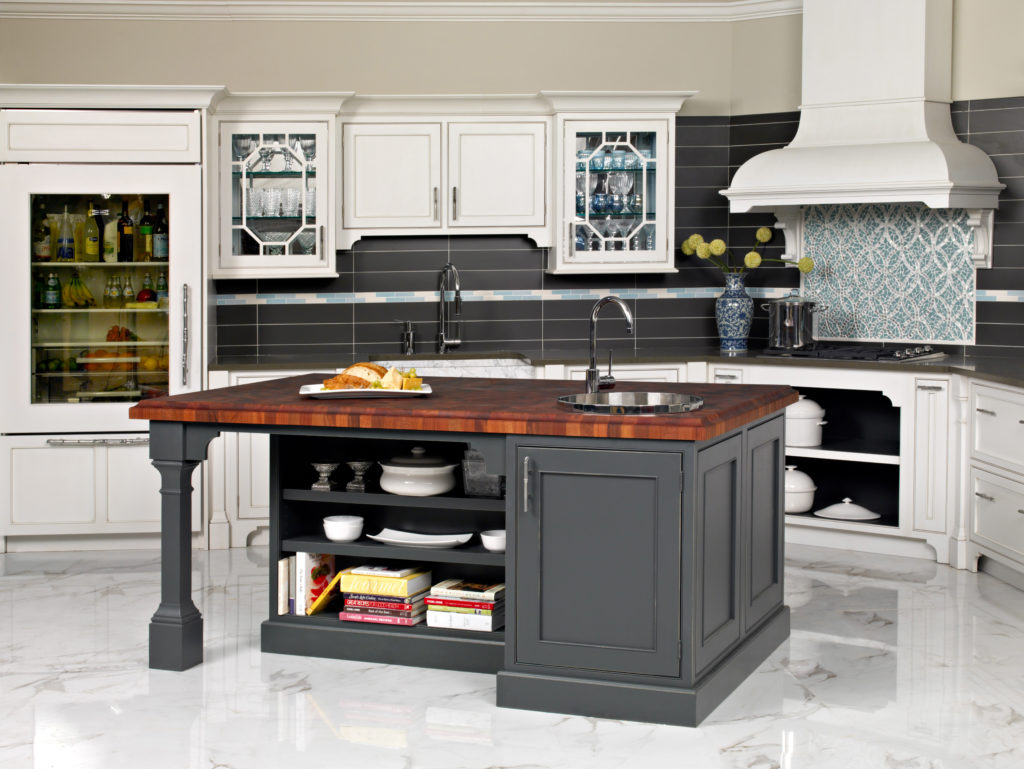 Family Sized Butcher Block designed by Plain & Fancy Cabinetry