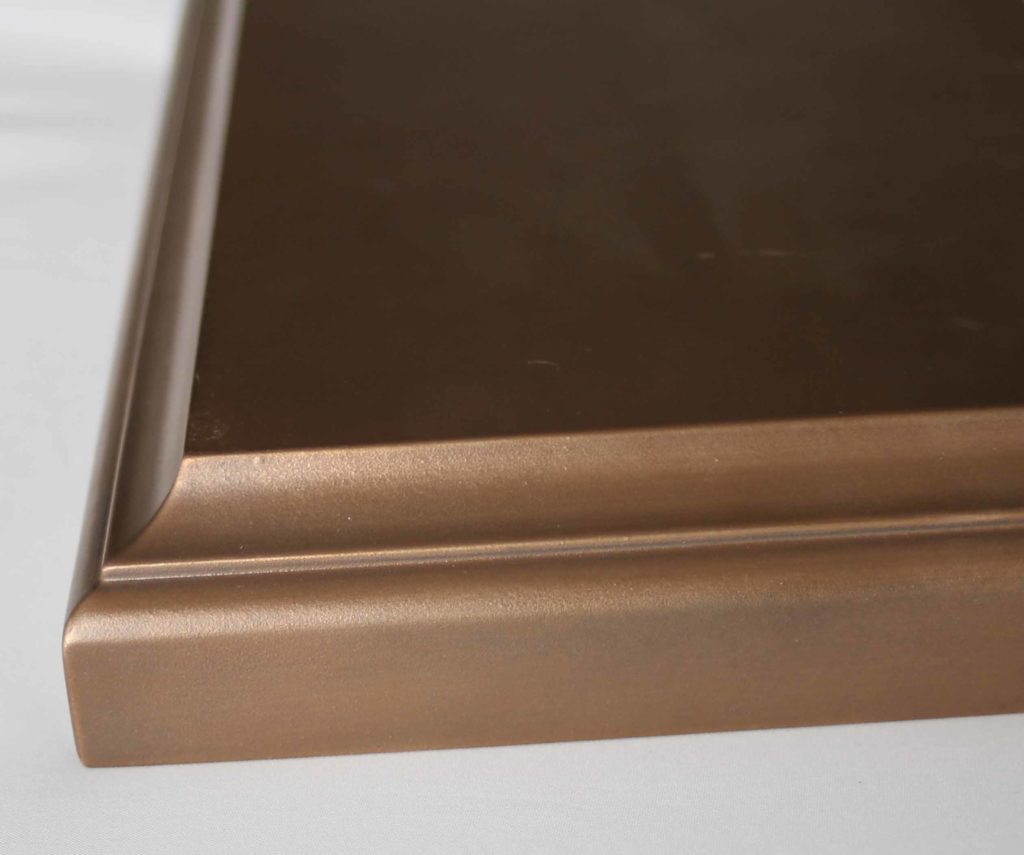 Medallion bronze countertops edges