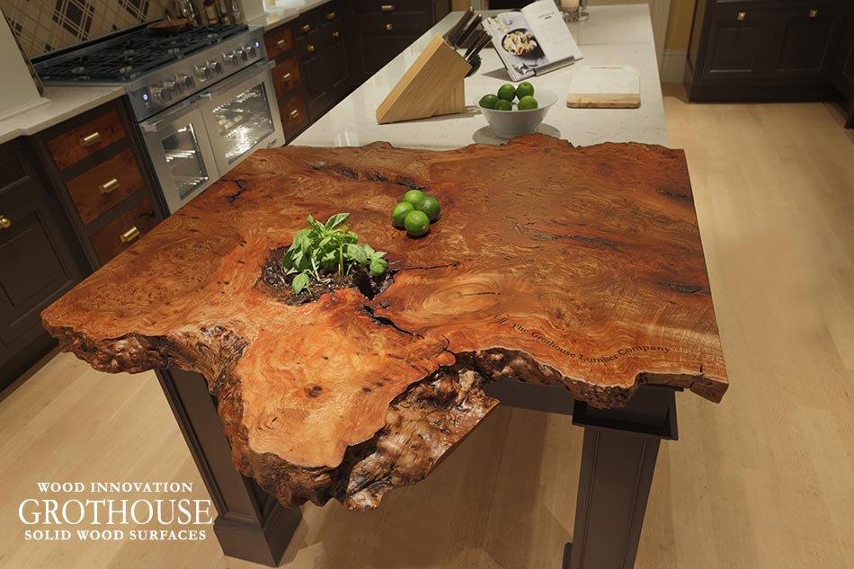 Live Edge Decorative Wood Countertops