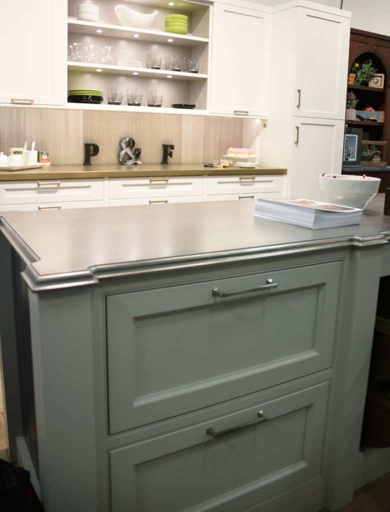Palladium White Gold Countertop designed by Plain and Fancy Cabinetry