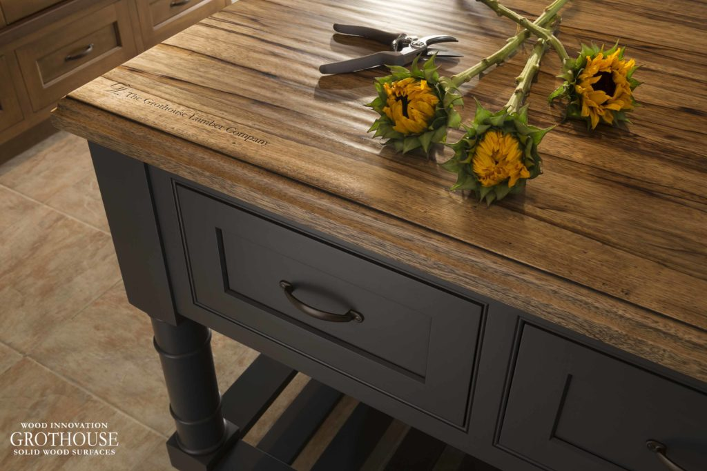 Saxon Wood™ Countertop for Gray Cabinetrs