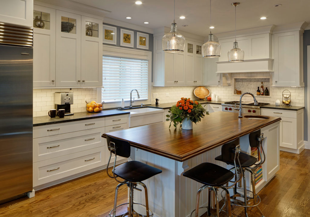 Wood countertops butcher block and bar top blog for Mahogany kitchen designs