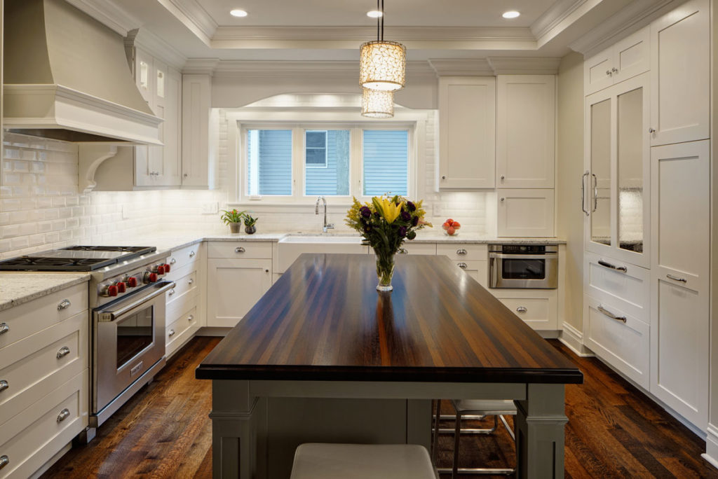 Custom Wenge Kitchen Island Countertop designed by Drury Design Kitchen & Bath Studio