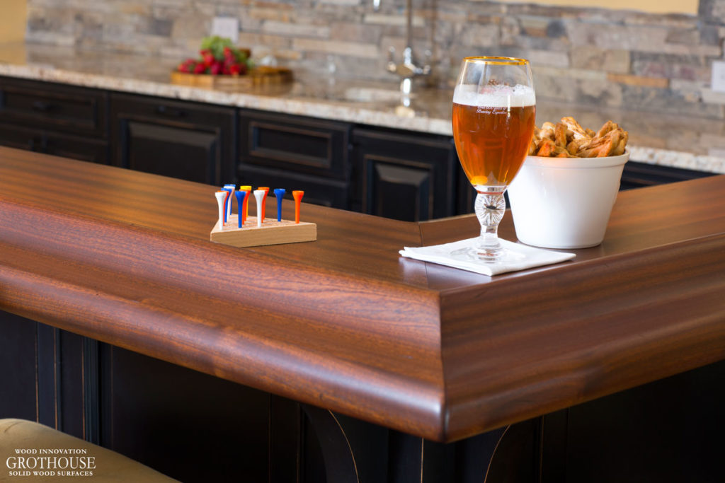 Custom Wood Bar Top Ideas that will make your home bar entertainment area stand out