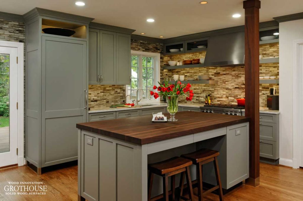 Peruvian Walnut Kitchen Island Top Designed By Jennifer Gilmer Of Jennifer  Gilmer Kitchen And Bath