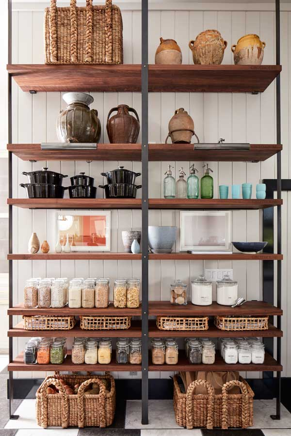 House Beautiful Kitchen of the Year 2017 Pantry Shelves