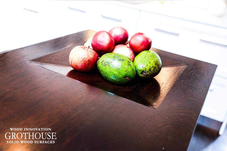 Declutter Kitchen Countertops with an integrated fruit bowl