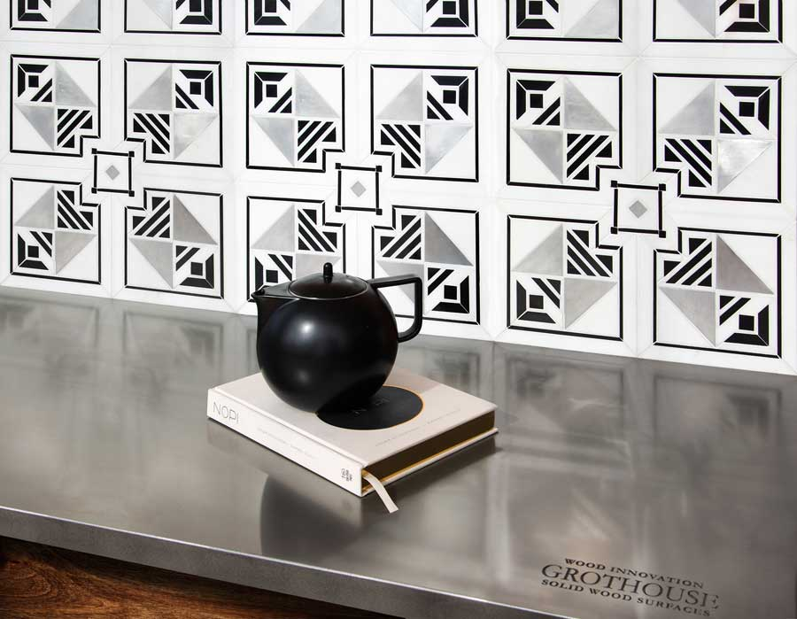 Axel Stainless Steel Metal Countertop designed by New Ravenna