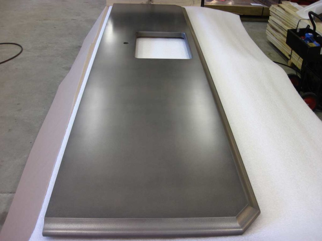 Anvil Palladium Metal Countertop with Durata waterproof permanent finish